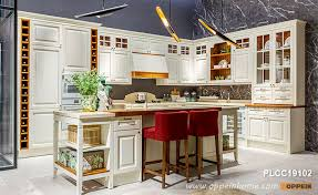 modern all wood kitchen cabinets white l shape solid wood kitchen cabinet with island