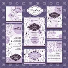 Wedding Invitation Cards Download Free Violet Vintage Floral Wedding Invitation Cards Vector Image 37712