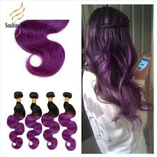 purple hair extensions 100 human hair indian ombre color 1b purple hair extensions