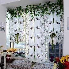 balcony curtain embroidered butterfly tulle window screens door balcony curtain