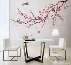 tree birds flower cherry blossom tree branch wall decal