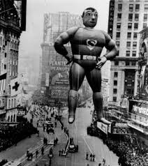 1940s superman balloon from macy s thanksgiving day parade blurppy