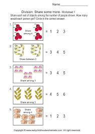 division worksheets 1 share some more