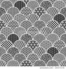 japanese pattern black and white japanese pattern pattern traditional pattern stock illustration