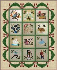 12 days of appliqué quilt from several issues of the