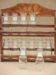Old Fashioned Spice Rack Pantry Storage Canisters U0026 Spice Jars