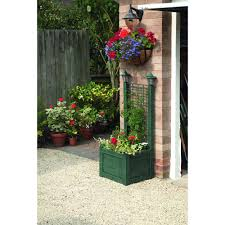 greenhurst trellis planter with solar light verdigris at wilko com