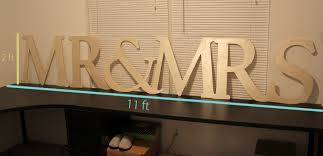 how to make a big wooden mr and mrs sign
