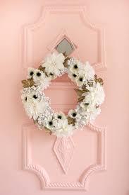 white gold holiday wreath diy u2013 a beautiful mess