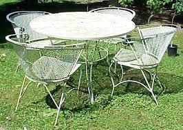 White Metal Patio Chairs White Metal Garden Furniture Hydraz Club