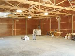 all in one pole barn interior all in one builders