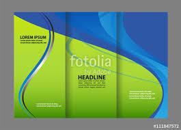 tri fold brochure template corporate business background or cover