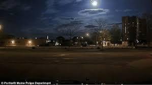 Light The Night Portland Huge U0027 Meteor Soaring Across The Night Sky Above Maine Is Captured