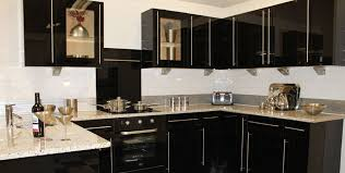 Black Bar Cabinet Amazing Black Shiny Kitchen Cabinets Intended For Property