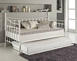 versailles french day bed and trundle black white metal frame with