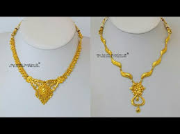small necklace designs images Gold mini haar designs gold mini necklace design jpg