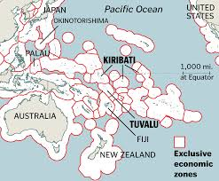 Map Of Pacific Islands When Island Nations Drown Who Owns Their Seas The Boston Globe