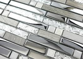 metal backsplash tiles for kitchens silver stainless steel and glass tile textured marble mosaics