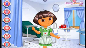 dora the explorer nurse injection episodes for children cartoon