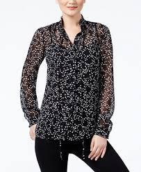 print blouse michael michael kors sheer print blouse tops macy s