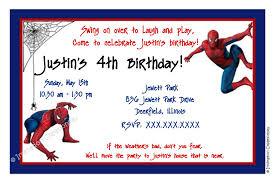 spiderman birthday invitations card invitation ideas card
