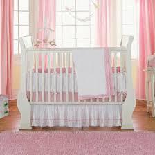 eyelet ribbon crib dust ruffle by baby doll