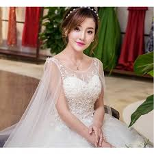 wedding dress korean 2017 new summer korean style wide slevee lace wedding