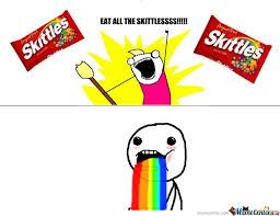 Taste The Rainbow Meme - skittles taste the rainbow d by evilmidgetgem meme center