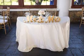 gold mr and mrs sign wedding sweetheart table decor mr u0026 mrs