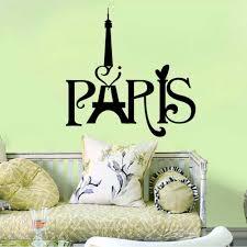 Home Decor France 2016 France Paris English Words Wall Stickers Eiffel Tower Art