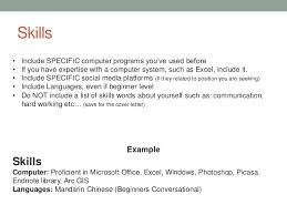 How To List Skills On by Extraordinary How To Put Language Skills On A Resume 29 In Cover
