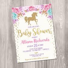 girl baby shower invitations unicorn baby shower invitation girl baby shower invitation