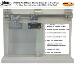sliding glass door stop johnson hardware 200wg wall mount sliding glass door hardware