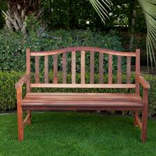 Curved Bench With Back 4 Ft Wood Garden Bench With Curved Arched Back And Armrests