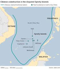 sea of map spratly islands maps perry castañeda map collection ut library