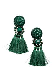 hm earrings earrings with tassels green h m ca