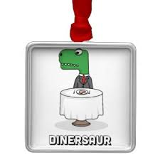 Dinosaur Attack Christmas Decorations by 800 Dinosaur Square Metal Christmas Decorations Zazzle Co Nz