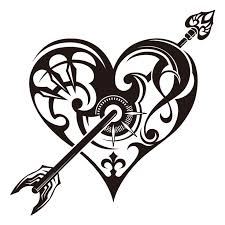 38 best shooting hearts tattoos images on pinterest heart