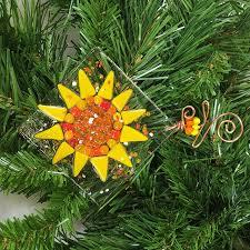 sunflower ornament large prairie glass studio