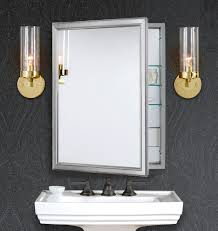 bathroom medicine cabinets with electrical outlet classic framed medicine cabinet with outlet brushed nickel