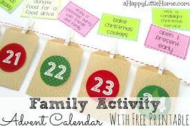 free printable family activity advent calendar cards money