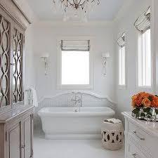 Freestanding Bathtub With Backsplash Design Ideas - Bathtub backsplash