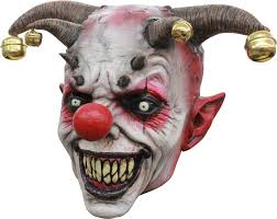 latex halloween mask kits masque de clown bouffon creepy clown