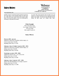 Salary Requirements Cover Letter Samples 6 Example Of Salary History Letter Salary Slip