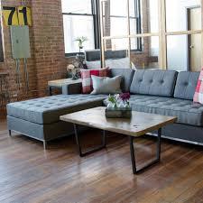 coffee table reclaimed wood steel custom woodworking furniture