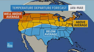 Oklahoma Weather Map Winter Outlook Update January Cold Snap In East Possible But El