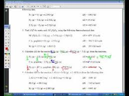 hess u0027s law sample problem youtube