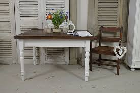 shabby chic farmhouse table white shabby chic antique 2 drawer farmhouse table tables the
