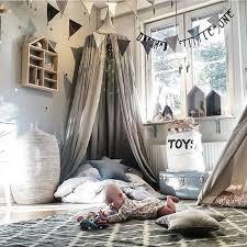tente chambre novatech gris moustiquaire tente de lit mignon dôme pour enfants