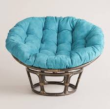 Patio Furniture Cushion Covers - furniture interesting papasan chair ideas with aqua blue papasan